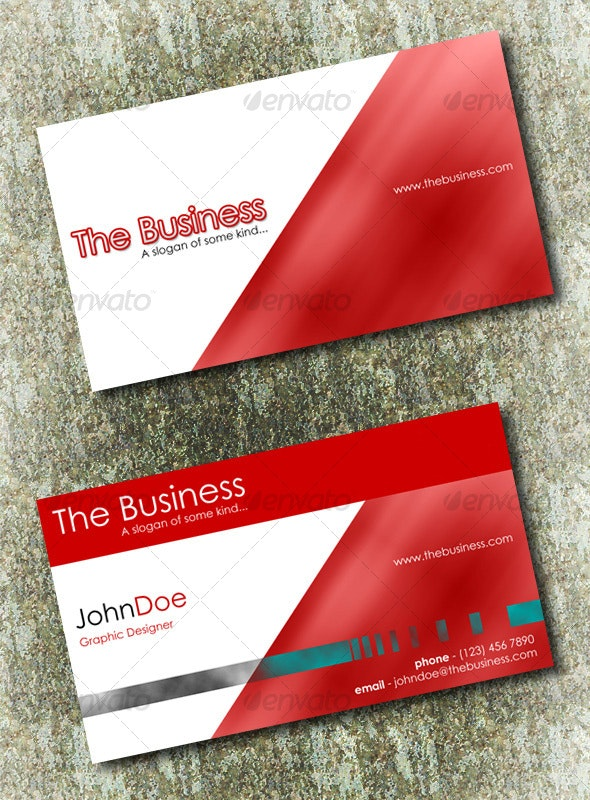 Business Card Set with 6 Colour Schemes - Creative Business Cards