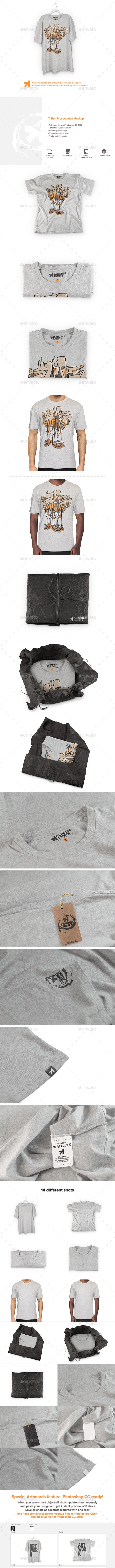 Heather T-Shirt Presentation Mockup - T-shirts Apparel