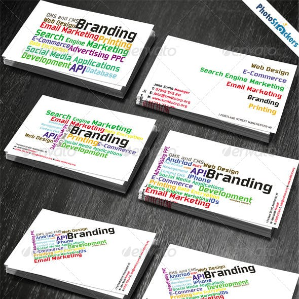 Cloud Word Tag Business Card