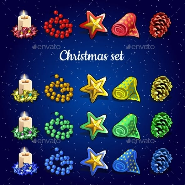 Christmas Collection of Candles Beads and Other