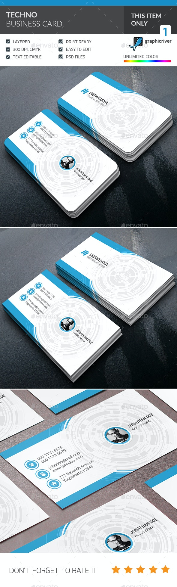 Techno Business Card - Corporate Business Cards