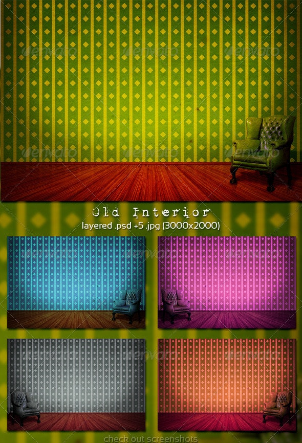 Old Interior - Miscellaneous Backgrounds