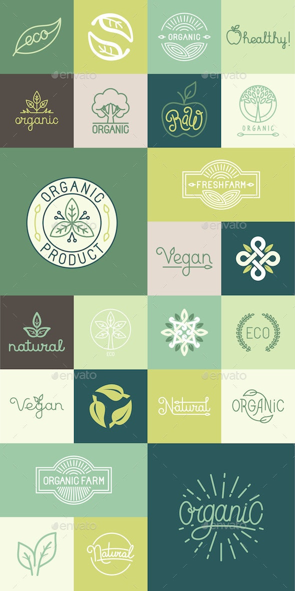 Natural Badges - Organic Objects Objects