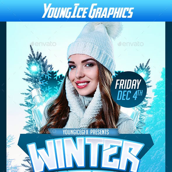 Winter Vibes Flyer Template