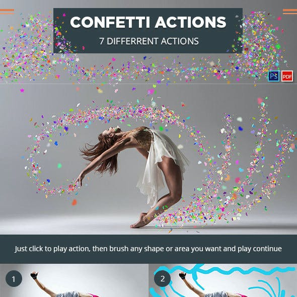 Confetti Photoshop Actions
