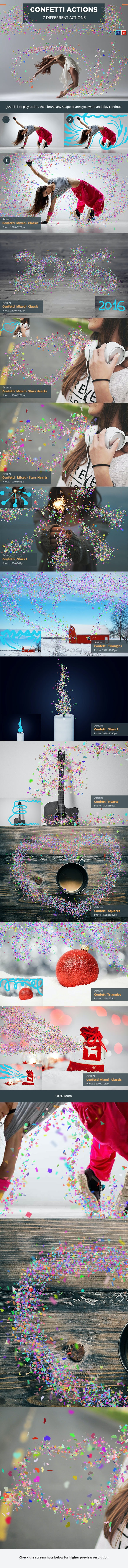 Confetti Photoshop Actions - Photo Effects Actions