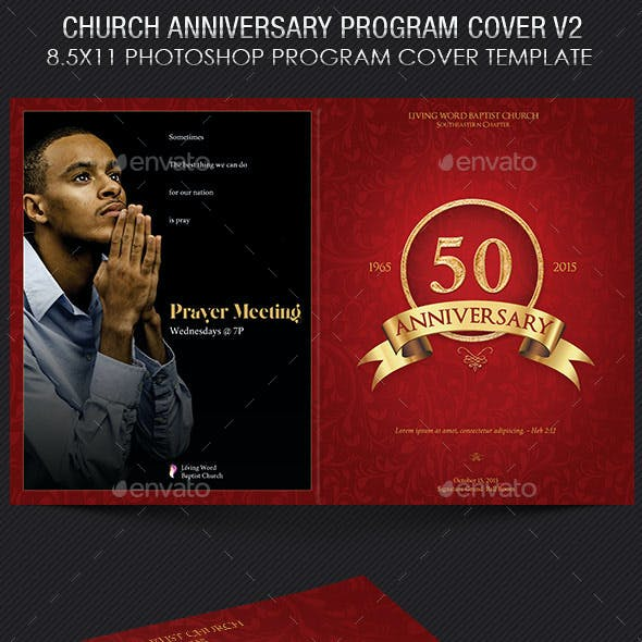 Church Anniversary Program Cover Template V2