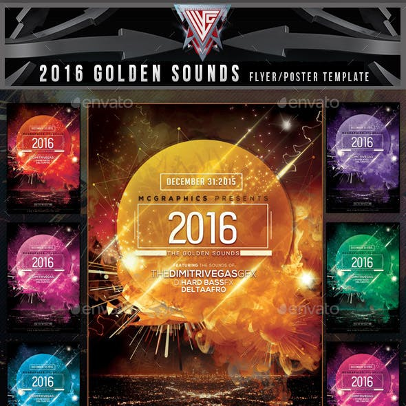 2016 The Golden Sounds Flyer Template