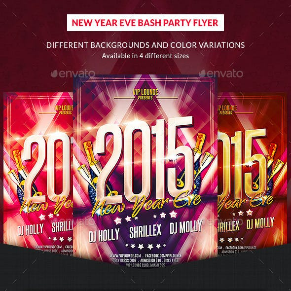 New Year Eve Bash Party Flyer