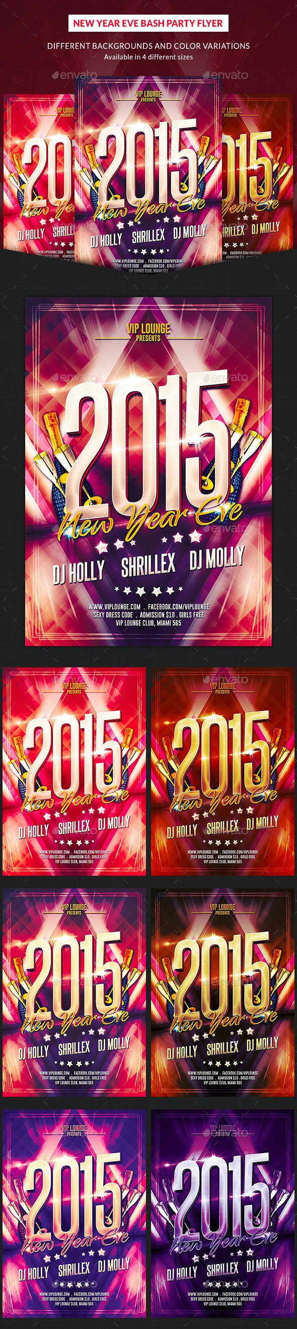 New Year Eve Bash Party Flyer - Clubs & Parties Events