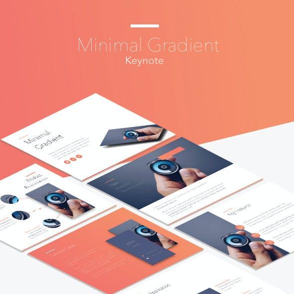 Minimal Gradient Keynote Template