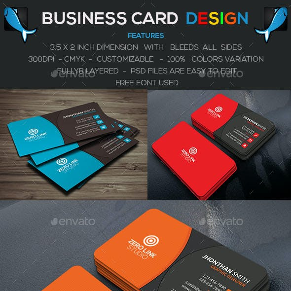 Corporate Business Card V-5
