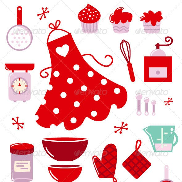 Icons or accessories for housewife