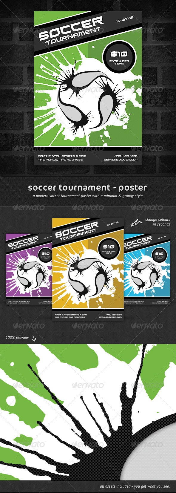 Soccer Tournament - Poster - Sports Events