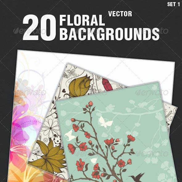 Floral Background Illustrations