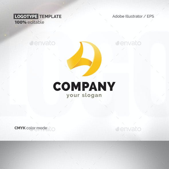 Sail, A-letter Logotype Template