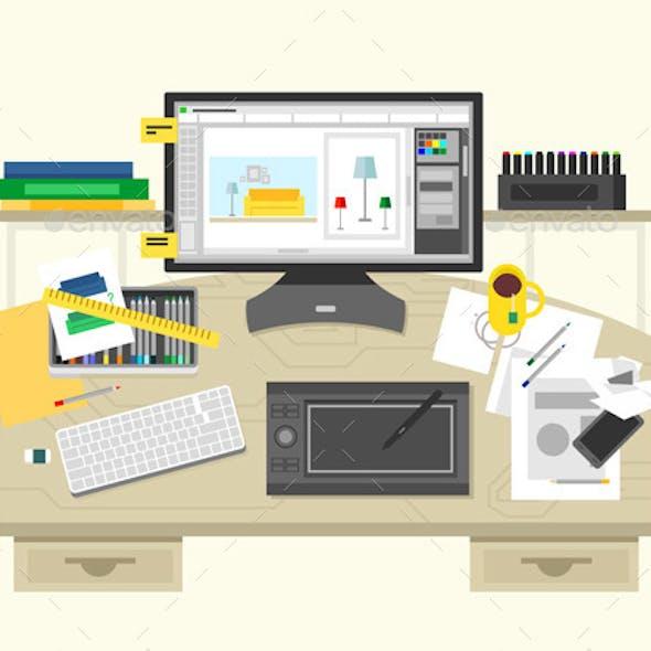 Interior Design Workspace