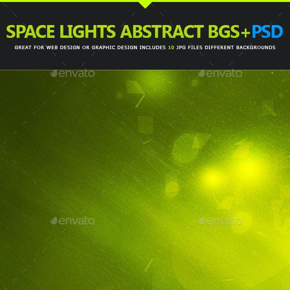 Space Lights Abstract Background