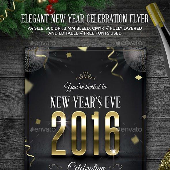 Elegant New Year Celebration Flyer