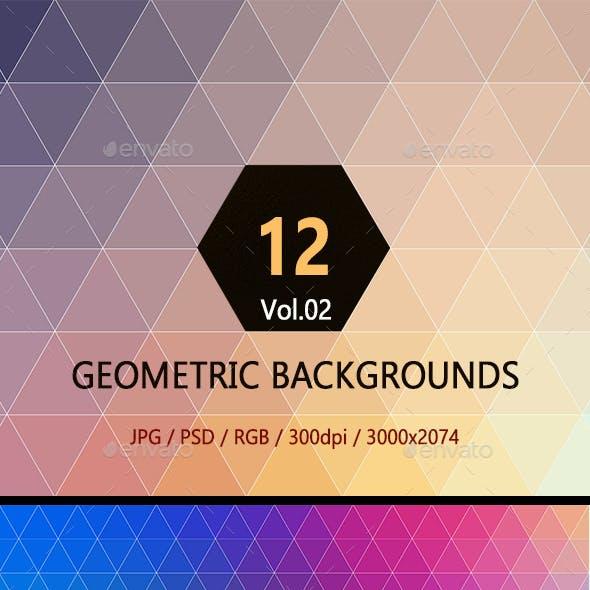 """12 Geometric Backgrounds Vol.02"""