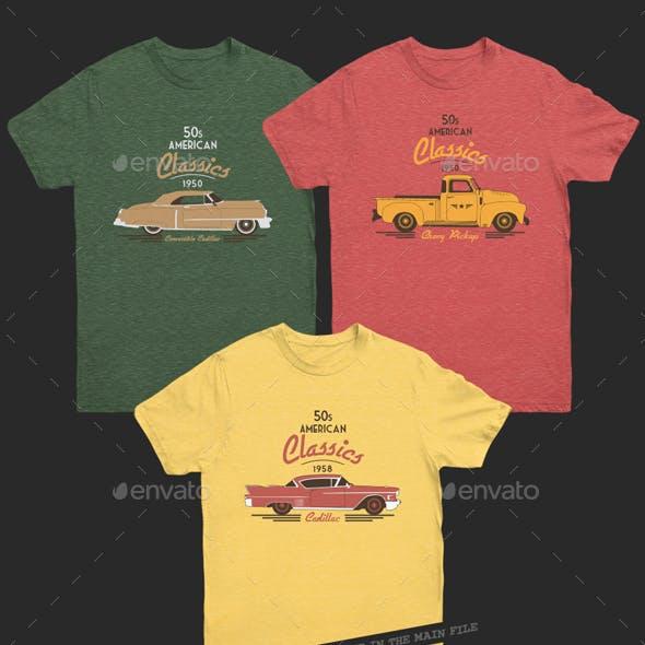 American Classic Car T-Shirt