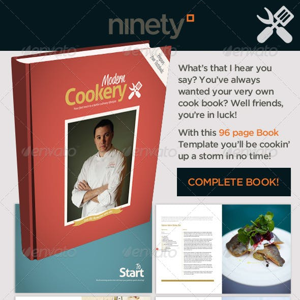 Modern Cookery Book Template