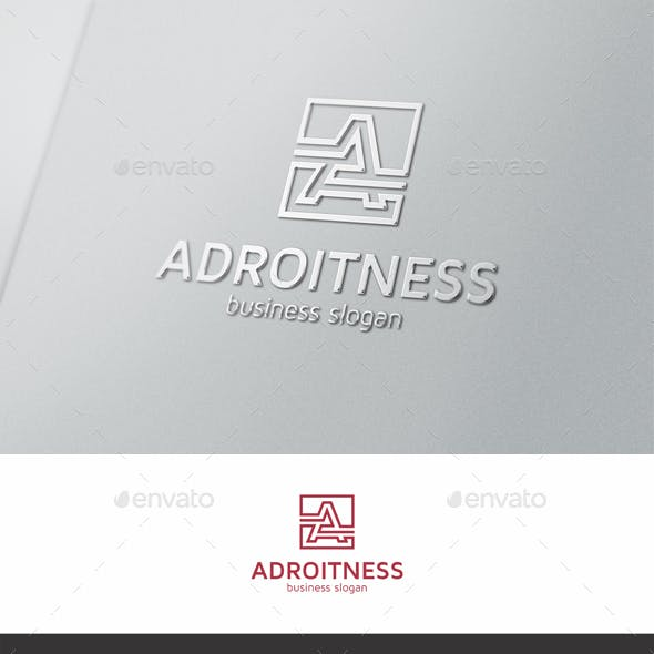 Adroitness A Letter Logo