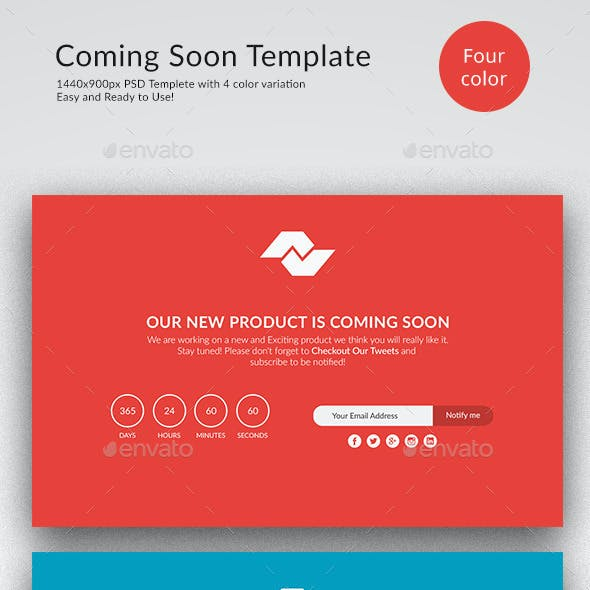 Flat Design Coming soon Page