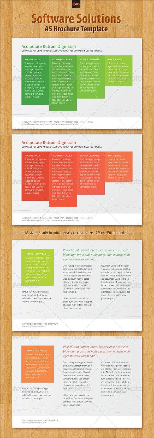 Software Solutions Brochure Template - Corporate Brochures