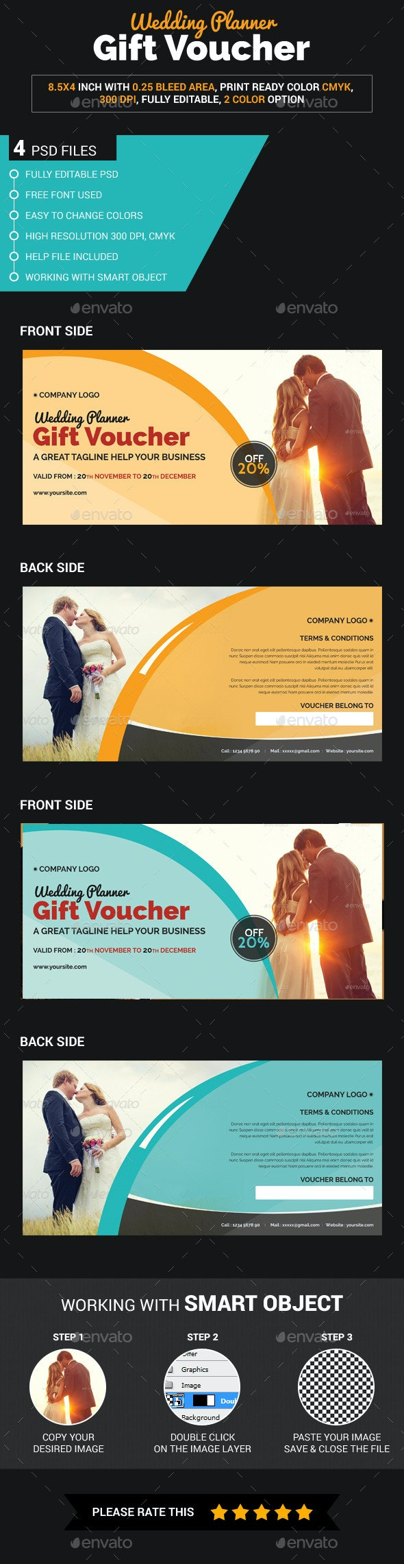 Wedding Planner Gift Voucher - Loyalty Cards Cards & Invites