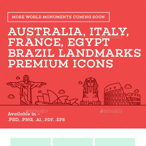 World Landmarks Icons - Vol. 1