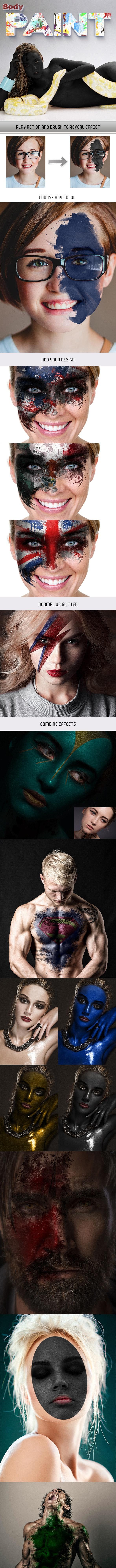 Body Paint Photoshop Action - Actions Photoshop