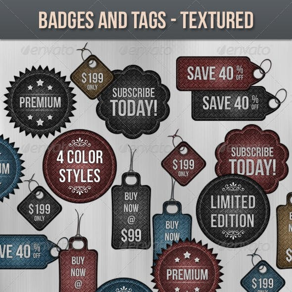 Badges and Tags - Textured