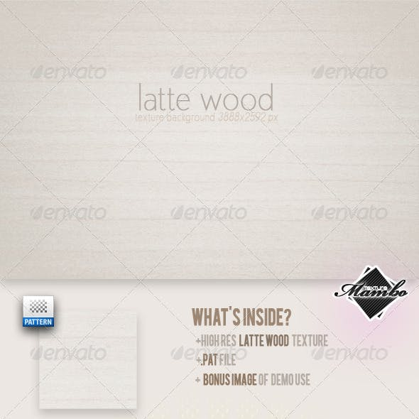 Latte Wood - Background Texture