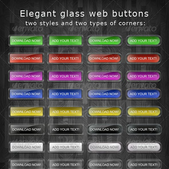 Elegant glass buttons