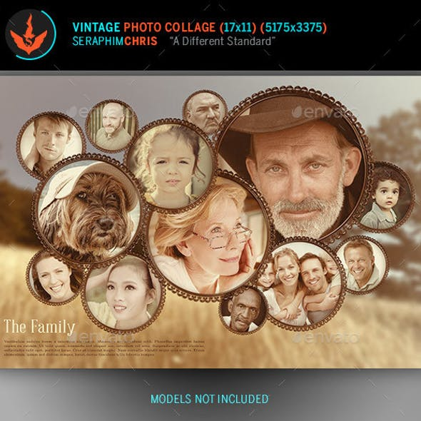 Vintage Photo Collage Template