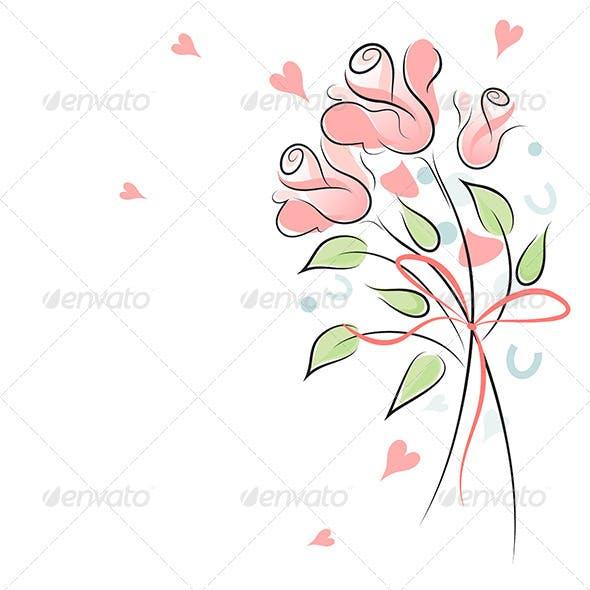 Rose wedding background