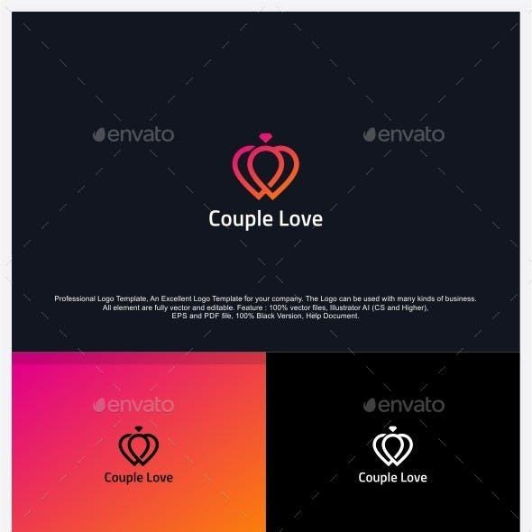 Couple Love - Love Ring Logo