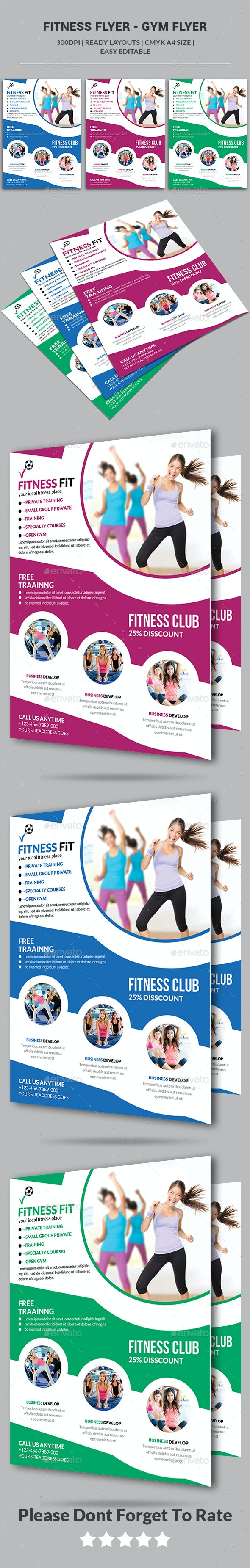 Fitness Flyer - Gym Flyer - Corporate Flyers