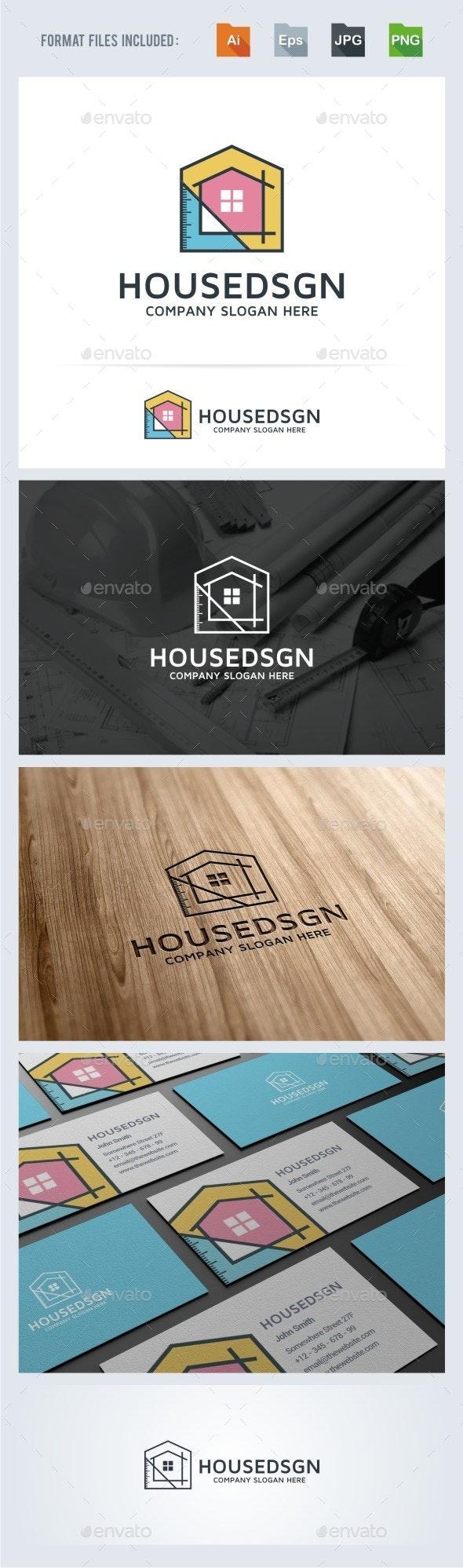 House Design - Architecture Logo Template - Buildings Logo Templates