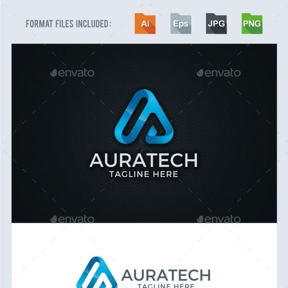 A Letter - Technology Logo Template