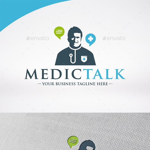 Medic Chat Logo Template
