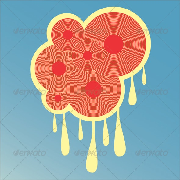 Abstract Circles and Drips Graphic - Decorative Vectors