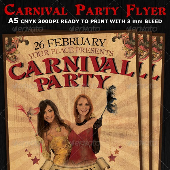 Carnival Club Party Flyer Template V2