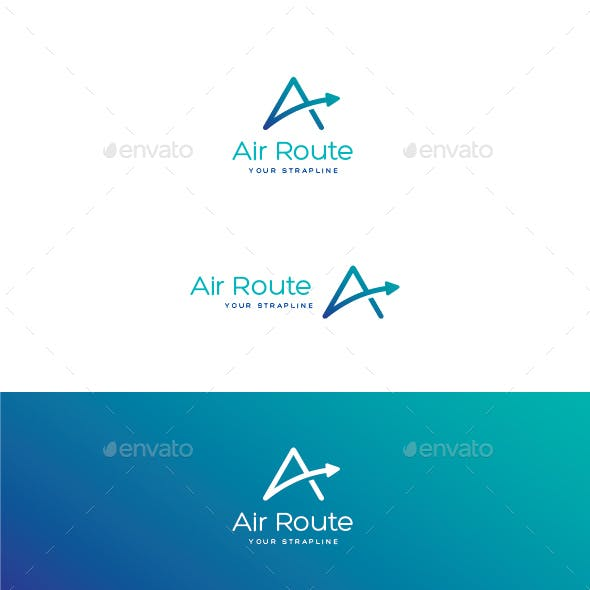 Air Route Letter A Logo