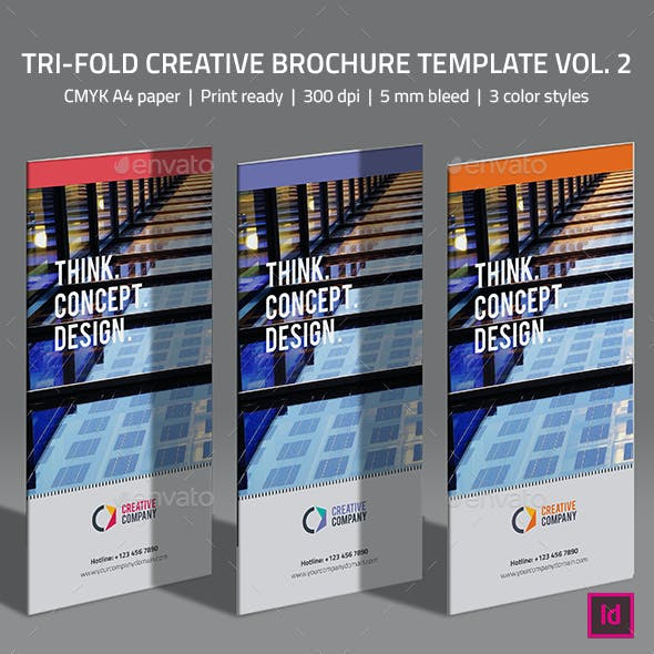 Tri-fold Creative  Brochure Template Vol. 2