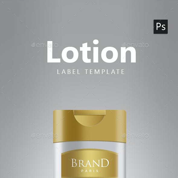 Lotion Packaging Label