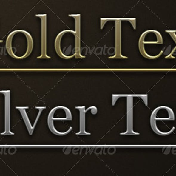 Gold and Silver Photoshop addon