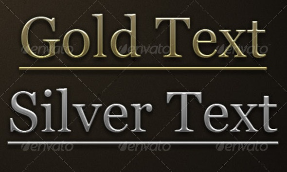 Gold and Silver Photoshop addon - Text Effects Styles