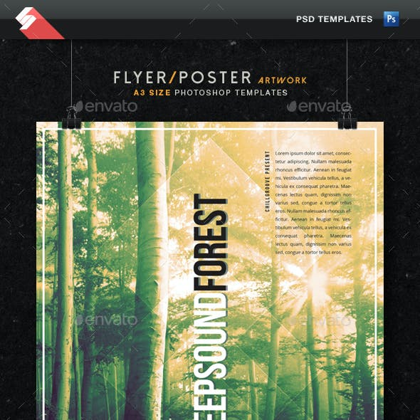 Deep Sound Forest - Chillout Flyer Template A3